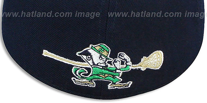 Notre Dame SWOOP LACROSSE Navy Fitted Hat by Zephyr c19ecb601ba
