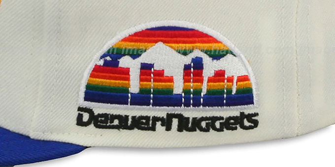 Nuggets '2T TAILSWEEPER SNAPBACK' White-Royal Hat by Mitchell and Ness