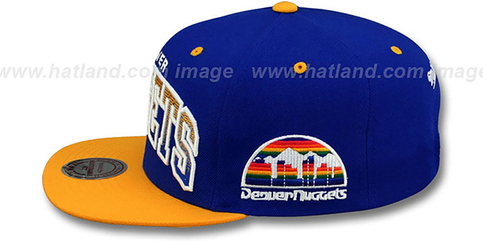 Nuggets 'GRADIANT-ARCH SNAPBACK' Royal-Gold Hat by Mitchell & Ness