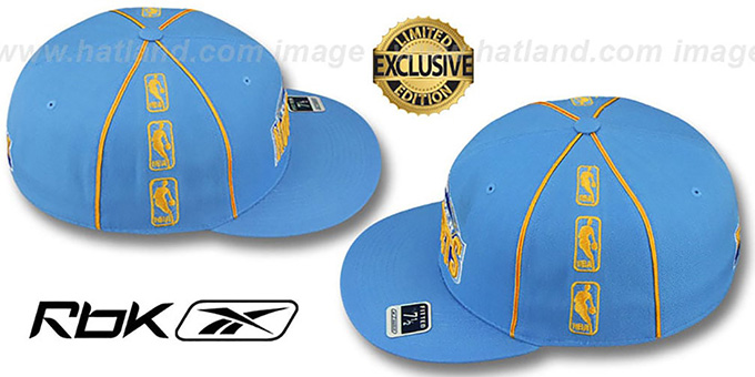 Nuggets 'NBA-TRIPLESIDE' Sky Fitted Hat by Reebok