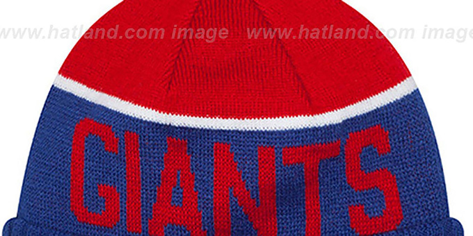 NY Giants  '2015 STADIUM' Royal-Red Knit Beanie Hat by New Era