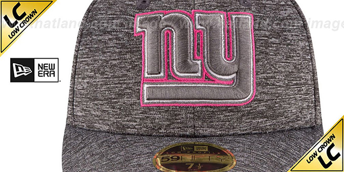 NY Giants '2016 LOW-CROWN BCA' Grey Fitted Hat by New Era
