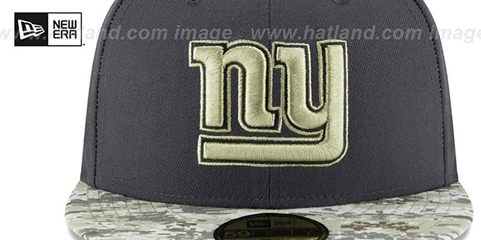 NY Giants '2016 SALUTE-TO-SERVICE' Grey-Desert Fitted Hat by New Era