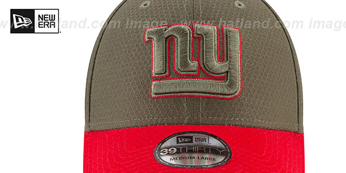 NY Giants '2017 SALUTE-TO-SERVICE FLEX' Green-Red Hat by New Era