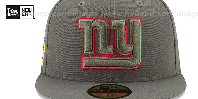 NY Giants '2017 SALUTE-TO-SERVICE' Green Fitted Hat by New Era