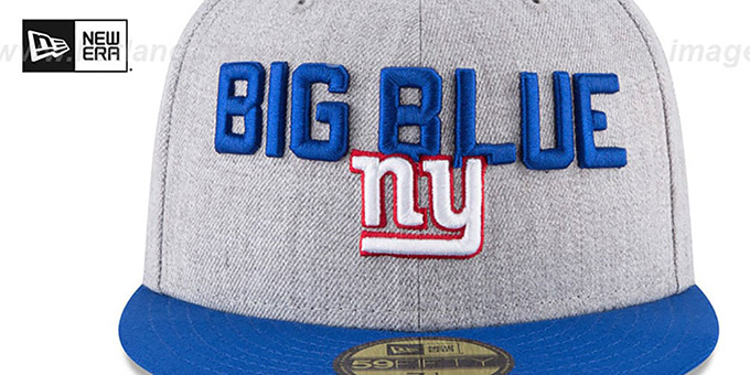 NY Giants '2018 ONSTAGE' Grey-Royal Fitted Hat by New Era