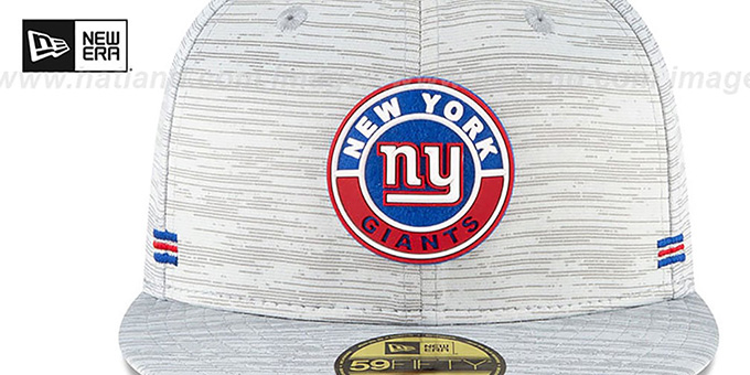 NY Giants '2020 ONFIELD STADIUM' Heather Grey Fitted Hat by New Era