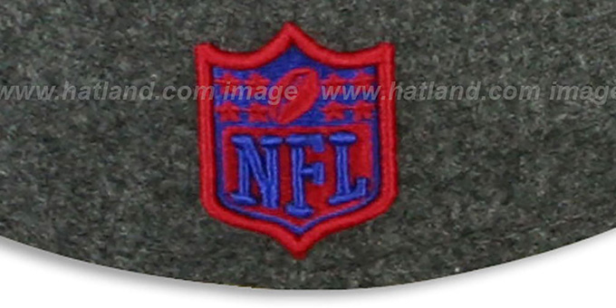 NY Giants '2T NFL MELTON-BASIC' Grey-Red Fitted Hat by New Era