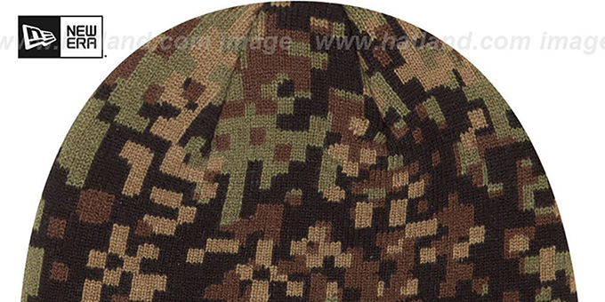 NY Giants 'ARMY CAMO PRINT-PLAY' Knit Beanie Hat by New Era
