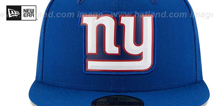 NY Giants 'BEVEL' Royal Fitted Hat by New Era