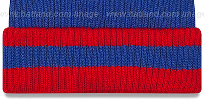 NY Giants 'CHILLER FILLER BEANIE' Royal-Red by New Era