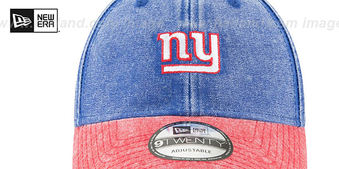 3debc7a08cf ... NY Giants  GW RUGGED CANVAS STRAPBACK  Royal-Red Hat by New Era ...