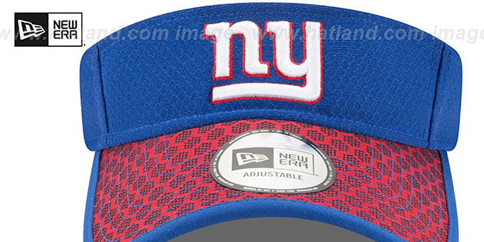 NY Giants 'HONEYCOMB STADIUM VISOR' Royal by New Era