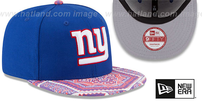 NY Giants 'KALEIDOVIZE SNAPBACK' Royal Hat by New Era