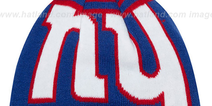 NY Giants 'LOGO WHIZ' Royal-Red Knit Beanie Hat by New Era