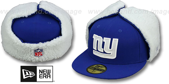 NY Giants 'NFL-DOGEAR' Royal Fitted Hat by New Era