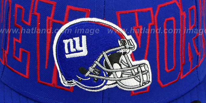 NY Giants 'NFL WRAP-IT-UP' Royal Fitted Hat by New Era
