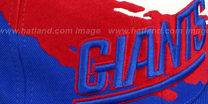 41a60cc9cf0 ... NY Giants  PAINTBRUSH SNAPBACK  White-Red-Royal Hat by Mitchell   Ness