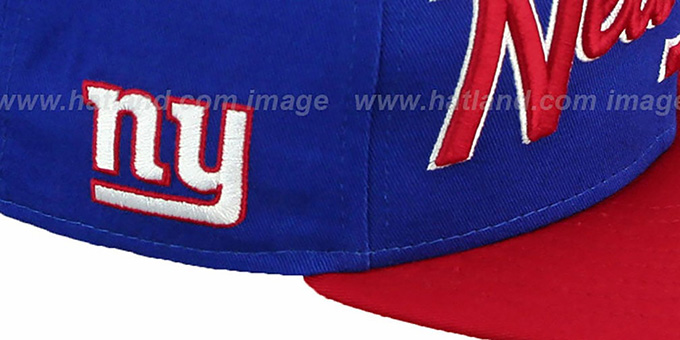 NY Giants 'SNAP-IT-BACK SNAPBACK' Royal-Red Hat by New Era