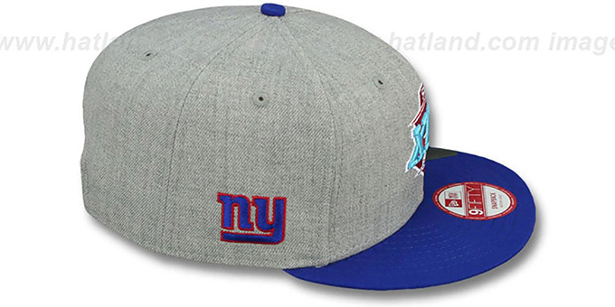 NY Giants 'SUPER BOWL XLII SNAPBACK' Grey-Royal Hat by New Era