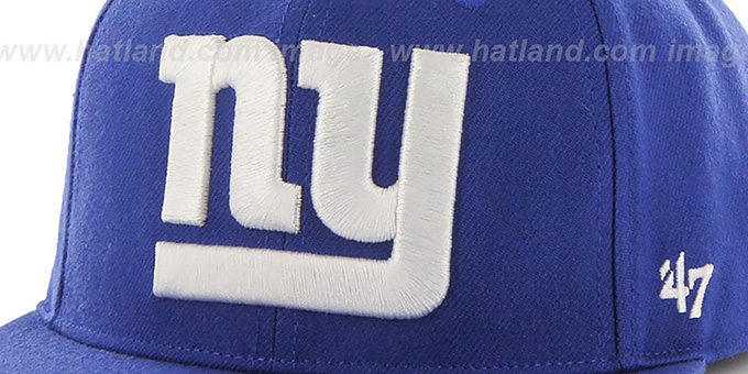 NY Giants 'SUPER-SHOT STRAPBACK' Royal Hat by Twins 47 Brand