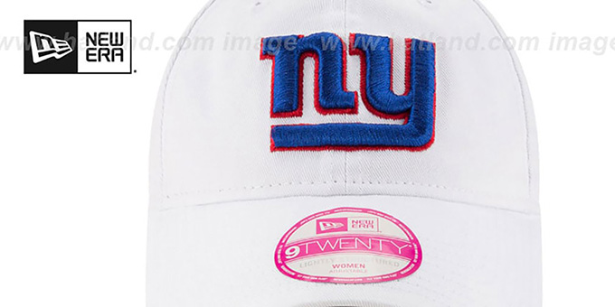 NY Giants 'WOMENS PREFERRED PICK STRAPBACK' White Hat by New Era