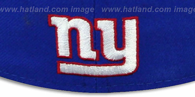 93f72204e ... NY Giants  WORD-KNOCK  Royal-Red Fitted Hat by New Era ...