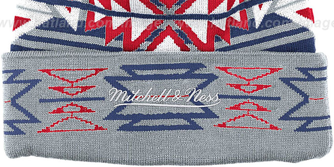 NY Rangers 'GEOTECH' Knit Beanie by Mitchell and Ness