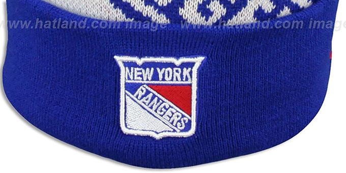 f41fad6d07f ... NY Rangers  NHL-BIGGIE  Royal Knit Beanie Hat by New Era ...