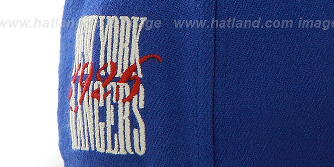 bfb737be923 ... NY Rangers  NHL CATERPILLAR  Royal Fitted Hat by 47 Brand ...