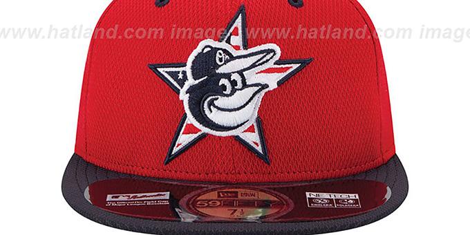 282ea811b Baltimore Orioles 2014 JULY 4TH STARS N STRIPES Hat by New Era