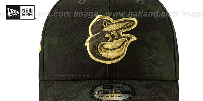 Orioles 2019 ARMED FORCES 'STARS N STRIPES FLEX' Hat by New Era