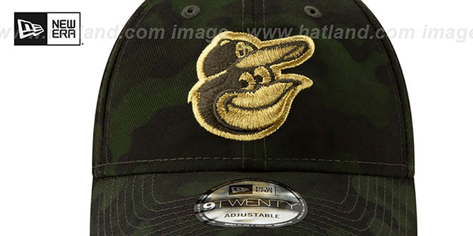 Orioles 2019 ARMED FORCES 'STARS N STRIPES STRAPBACK' Hat by New Era