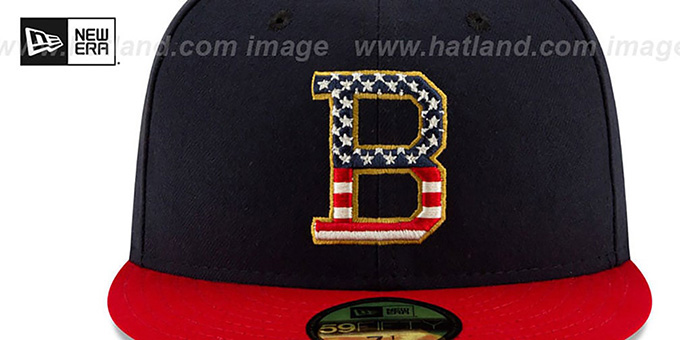 Orioles '2019 JULY 4TH STARS N STRIPES' Fitted Hat by New Era