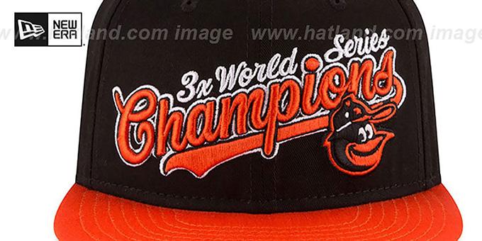 875564932 Baltimore Orioles AL EAST WORLD SERIES CHAMPS SNAPBACK Black-Orange Hat by  New Era