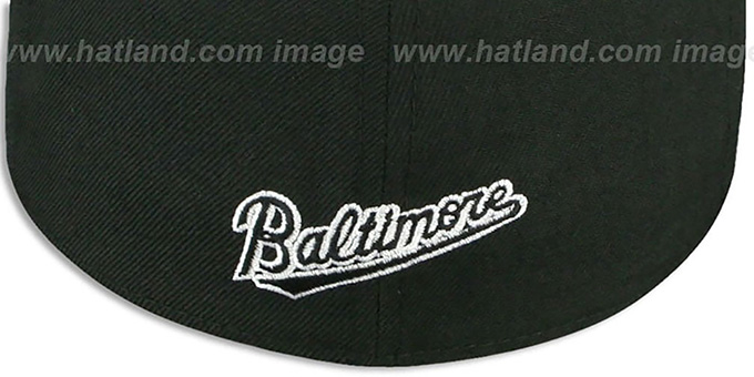 Orioles 'BALTIMORE SCRIPT' Black-White Fitted Hat by New Era