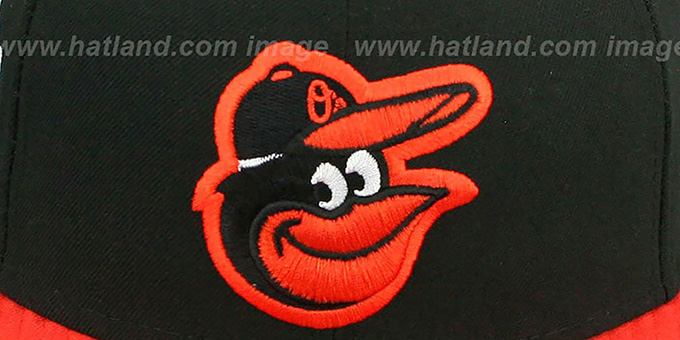 Orioles 'BAYCIK' ALT Black-Orange Fitted Hat by New Era
