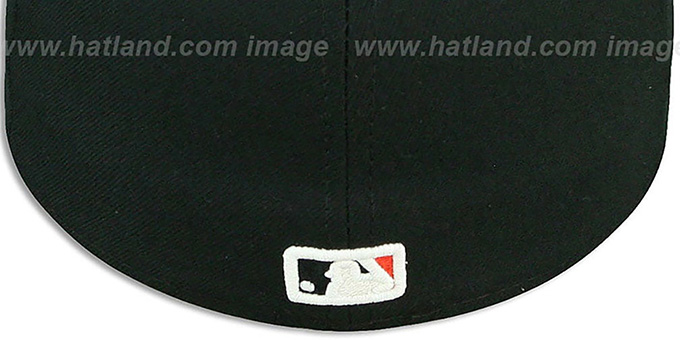 Orioles 'BP 2T-FASHION' Black-Orange Fitted Hat by New Era