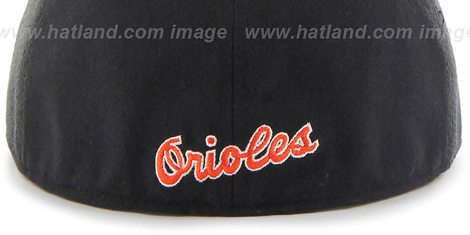 Orioles 'COOP HOLE-SHOT' Black Fitted Hat by Twins 47 Brand