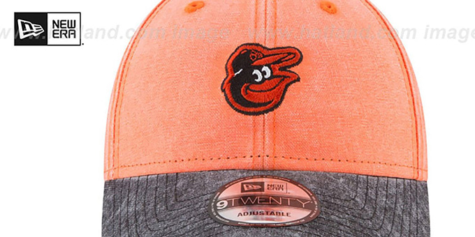 Orioles 'GW RUGGED CANVAS STRAPBACK' Orange-Black Hat by New Era