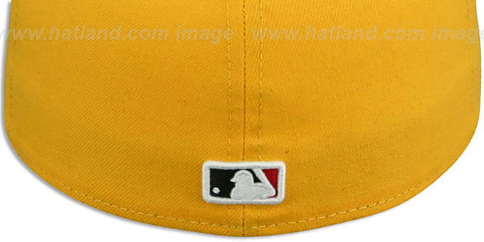 Orioles 'MARYLAND-FLAG VIZA' Gold Fitted Hat by New Era