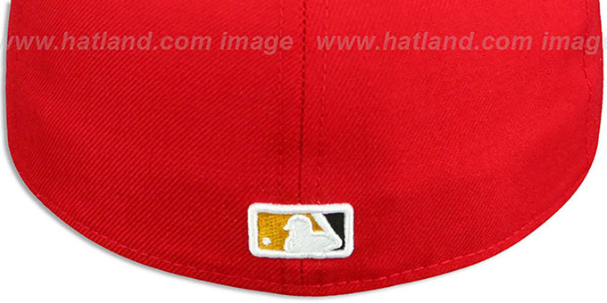Orioles 'MARYLAND-FLAG VIZA' Red Fitted Hat by New Era