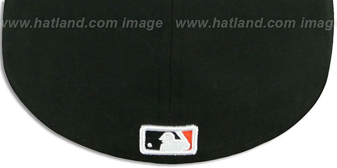Orioles 'REAL CHAINS VIZA-PRINT' Black Fitted Hat by New Era