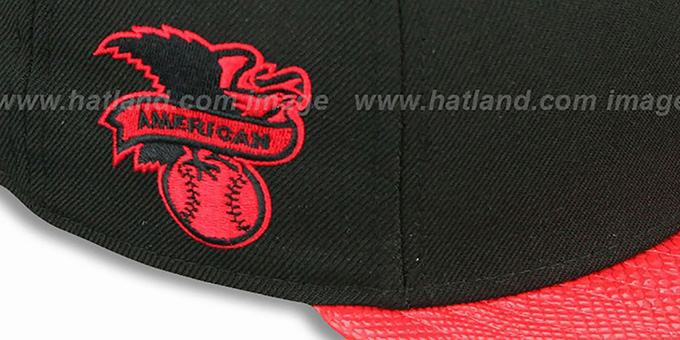 Orioles 'SNAKE-THRU STRAPBACK' Black-Red Adjustable Hat by New Era