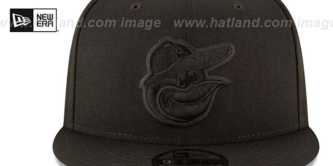 Orioles 'TEAM-BASIC BLACKOUT SNAPBACK' Hat by New Era