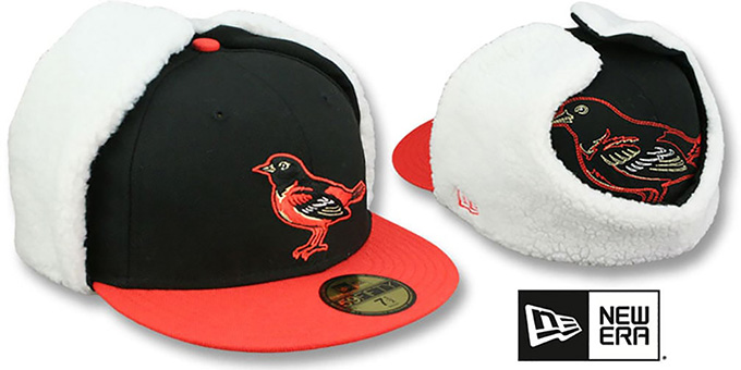 Orioles 'TRACE DOGEAR' Black-Orange Fitted Hat by New Era