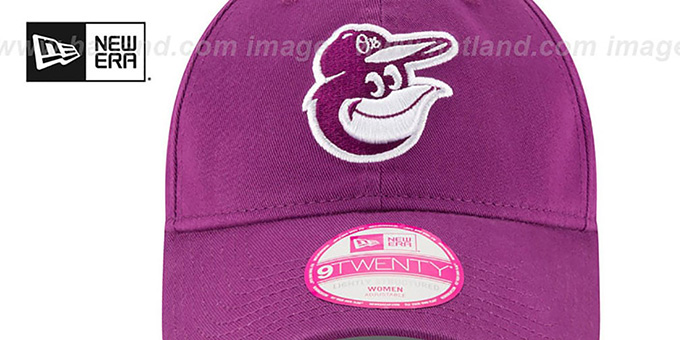 Orioles 'WOMENS PREFERRED PICK STRAPBACK' Purple Hat by New Era
