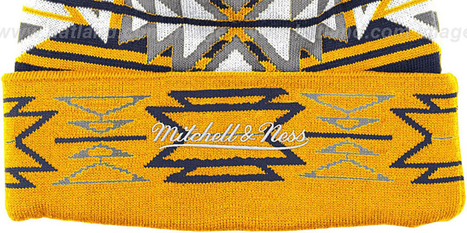 Pacers 'GEOTECH' Knit Beanie by Mitchell and Ness