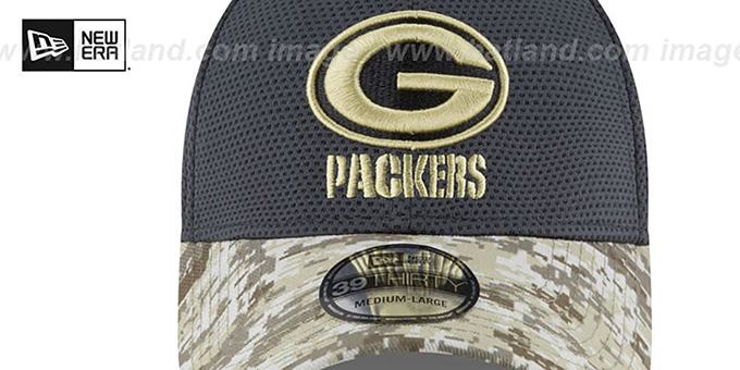 Packers '2016 SALUTE-TO-SERVICE FLEX' Grey-Desert Hat by New Era