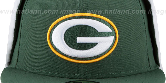 5028d2c7 Packers FLURRY-FIT DOGEAR Green Fitted Hat by New Era